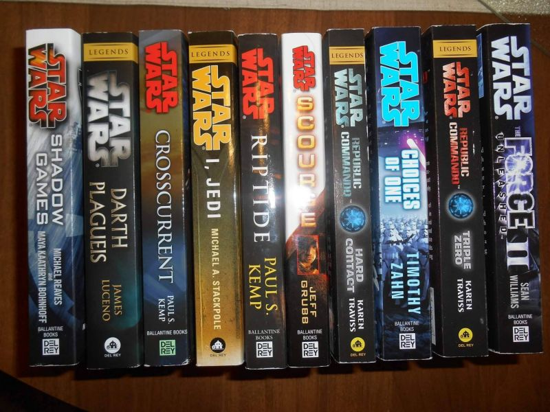 Star Wars Legends books Donation to our Ohio Based Location received 7/15/2017