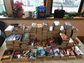 Books donated to the Tenderloin Recreation Center in San Francisco, Holiday Reads Drive